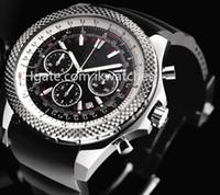 2016 حار بيع الرجال كرونوغراف ووتش أعلى جودة الكوارتز ساعة توقيت الأسود المطاط باند تاريخ الساعات 204