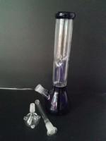 Bong di vetro in vendita 2016 a buon mercato bong di vetro con diffusore a percolatore braccio albero perc beaker bong vetro di trasporto libero bong acqua H30CM
