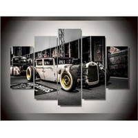 2 photos wholesale free car posters canvas printings back oldschool eos car retro painting wall art home