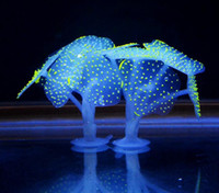 Sucker Coral Aquarium Artificial Coral Silicone Plant With S...
