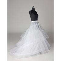 Capas Tulle 3 Hoops Petticoat Crinoline para vestidos con tren Tamaño libre Vestidos de novia Dessudos Slip de Petipoat Slip CPA211