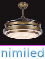 """Nimi929 36 """"/ 42"""" Tavan Fanı Işıkları Restoran Avize Lamba Oturma Odası Avrupa tarzı Retro Minimalist Işık Kolye Lambaları Akrilik Bıçakları"""