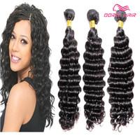DHL GRATUIT DHL 8A Vague profonde Human Cheveux Tissage Brésilien Péruvien Indian Virgin Remy Remy Bundles Hair Extension Produits