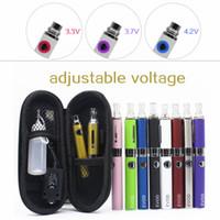 Los cigarrillos electrónicos kits EVOD MT3 Kit 650mAh 900mAh 1100mAh con el caso de la cremallera MT3 atomizador baterías de voltaje variable 3.2V-4.2V