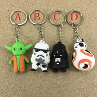 new Star Wars Keychains Darth Vader white soldiers sided car...