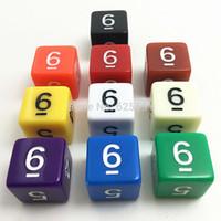 Vente en gros-10pcs / SET TG TG HAUTE QUALITÉ Coloré Deud Dice Set Effet opaque, Donjons et Dragons 6 Deuts numériques latéraux 6, Numéro numérique 1-6