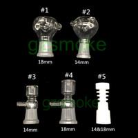 Ciotole di vetro all'ingrosso per bong accessorio per fumatori donna 18MM 14MM Ciotola assortita con manico per tubo acqua potabile Accessorio per vetro P
