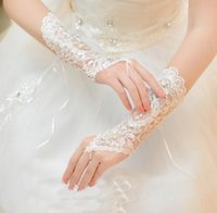 Bridal Gloves Fingerless Ivory Lace Glove Bridal Accessories Beaded Wedding Gloves White Lace bride gloves fashion wedding accessories