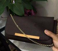 Envío gratis ! El más nuevo estilo de moda bolsos de mujer famosos Bolso de cadena de cuero genuino Bolso de hombro de mujer # 40718
