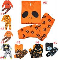Nouveau Enfants Vêtements Ensembles Bébé Filles Garçons Citrouille Halloween Costumes Tout-Petits Pyjamas Costume Carnaval Costume De Fête