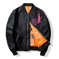 Kış Hip Hop Erkek Bombacı Ceket MA1 Pilot Ceket Baskılı Rüzgarlık Ceket ve Ceket Marka Giyim