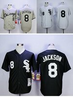 Chicago White Sox Jerseys #8 Bo Jackson Throwback Baseball s...