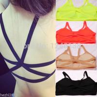 Al por mayor-2016 de la manera Nuevas Mujeres Sexy Sujetador Pad Tops Bustier Bra Chaleco Top Bralette Blusa envío gratis