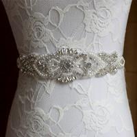 Pérolas artesanais strass casamento faixa de noiva 2017 novo cinto de casamento formal longo personalizado feito