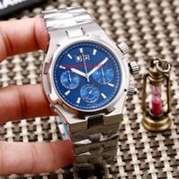 Фабрика новый продукт 3A качество 49150 мужские часы из нержавеющей стали импортированы кварцевый 6S хронограф механизм 45 мм мужские многофункциональные часы