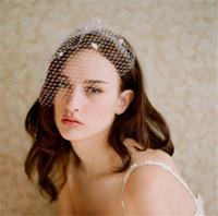 Старинные свадебные свадебные белые чистые Birdcage завесы для лица с бочонками для волос аксессуары головной уборные волосы волосы вульницы благополучие моды вечеринка вуаль