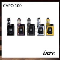 Kit iJoy CAPO 100 con serbatoio da 3,2 ml Captain Mini Subohm 100W CAPO 100 BOX MOD con batteria 3750mah 21700 100% originale