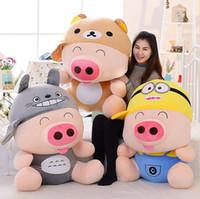 만화 mcdull 돼지 봉제 장난감 편안한 곰, 미니, 토토로 소프트 던지기 베개 장난감 생일 선물