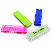 Boxed harmonica instrument, 10 hole Korean harmonica