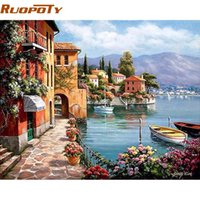 diy RUOPOTY Frame Venice Resorts Seascape DIY By Numbers Han...