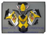 Инъекции 100% новый обтекатель комплект подходит для SUZUKI GSXR1000 07 08 Suzuki GSX-R1000 2007 2008 GSXR1000 2007 2008 #9TQ92 желтый
