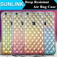 Diamond Pattern Gradient Airbag Case For iPhone SE 5s 6 6s P...