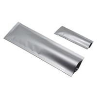 200pcs / lot Gümüş açık tepe saf Alüminyum Folyo Ambalaj Poşet Mylar Isı Sızdırmazlık Snack Kahve Toz Depolama Torbalar Bakkal El Ambalaj Torbaları