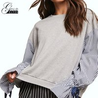 Women Winter Autumn Pullover Sweater Long Sleeve Striped Loo...