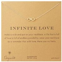 Dogeared Necklace with love pendant(infinite love), silver a...