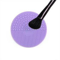 Hot sale brush cleanser colorful brushegg silicone makeup br...