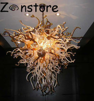 Modern Living Room Decor Ambre Couleur Lustre élégant 100% verre soufflé LED Lustre et Lampes Pendentif