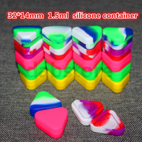 32 * 14mm all'ingrosso triangolo della cera dell'olio Contenitori Vasi silicone Dab Cera container Dab Contenitori di plastica del silicone per le prove Cera Passo FDA LFGB