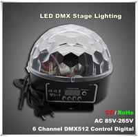 2016 الوافدين الجدد 6 قناة DMX512 التحكم الرقمي led rgb كريستال ماجيك الكرة تأثير الضوء dmx ديسكو dj المرحلة الإضاءة
