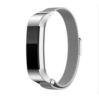 Colorful For Fitbit Alta Magnetic Milanese Loop Metal Bracel...