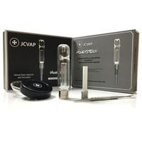 Jcvap honeystraw 유리 파이프 키트 티타늄 네일 석영 또는 세라믹 팁 미니 유리 파이프 오일 조작 HoneyStraw 키트 컨센트레이트 금연 파이프