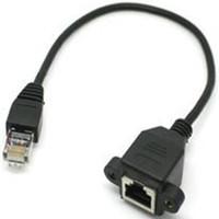 Nuevo Cat5 RJ45 Macho a Hembra Cable de Extensión de Red Ethernet LAN Con Tornillo Montaje en Panel 60 cm