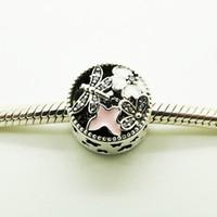 Gioielli di primavera 2016 Charms Fit Bracciale pandora europeo LibellulaButterfly Beads per monili che fanno 925 gioielli in argento sterling
