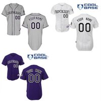 Personalized Stitched Custom Colorado Rockies Jerseys Person...