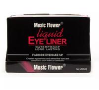 Atacado-2017 Eye Liner Delineador música flor 24pcs profissional moda cor maquiagem delineador líquido 6 cores à prova de água
