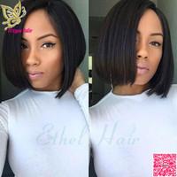 Kısa Bob U Bölüm Peruk İnsan Saç Brezilyalı Saç Upart Siyah Kadınlar Için Insan Saçı Peruk Düz Orta Kısmı