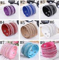 2021 Top Bracelets en cuir multicouche pour femmes avec cristaux Couple Bijoux Charm