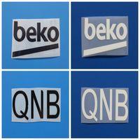 Nuevo balck / blancas QNB BEKO brazo de fútbol imprimir credenciales, Fútbol de sellado caliente Patch Pin