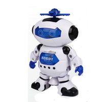 Intelligent auto Robot 360 Rotation Danse Robot Balade Musicale Alléger Électronique Robot Cadeau D'anniversaire De Noël Jouets