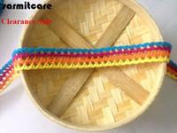 Costura de cordón de algodón DIY 100YDS./LOT CORDÓN CORDADO FORDADO ADJORTADORES DE TÉCNICA PARA COCUCCIÓN Tissu 2.8 cm Ancho mezclado 4 colores