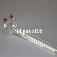 дешевые небольшой 12 см стекла прямые трубы pyrex масляная горелка трубы стекла каток трубы кальяны бонги стеклянные трубы для курения Бесплатная доставка