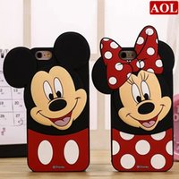 3D Cute Romantic Mickey Couple Soft Silicone Case Back Cover...