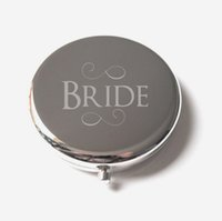 Miroir compact personnalisé argent gravé sur miroir loupe cosmétique miroir de poche favorise cadeau de mariage # M065P DROP expédition