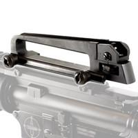 Livraison gratuite Tactical Military Law application Métal M4 M16 AR15 amovible Poignée de transport avec vue arrière mécanique