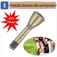 K068 Mini Karaoke Çalar Kablosuz Kondenser Mikrofon Mic Hoparlör KTV Singing Kayıt Akıllı Telefonlar Bilgisayar Toptan