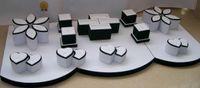 Exibição de jóias de alta classe mostrar incount showcase para anéis engate dou-rings conjunto de anel titular kit brincos pulseira de caixas de pulseira